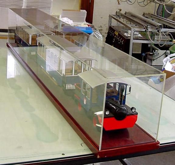 Acrylglas – Modellbahn-Abdeckung