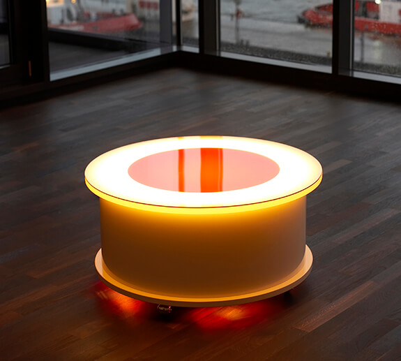 Acrylglas-Tisch rund