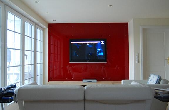 Acrylglas-Wand, unbeleuchtet
