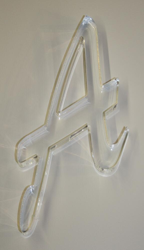 Buchstabe A Acrylglas farblos