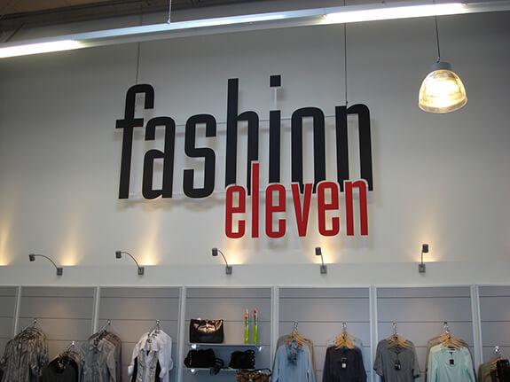 PVC gefräste Buchstaben Fashion Eleven