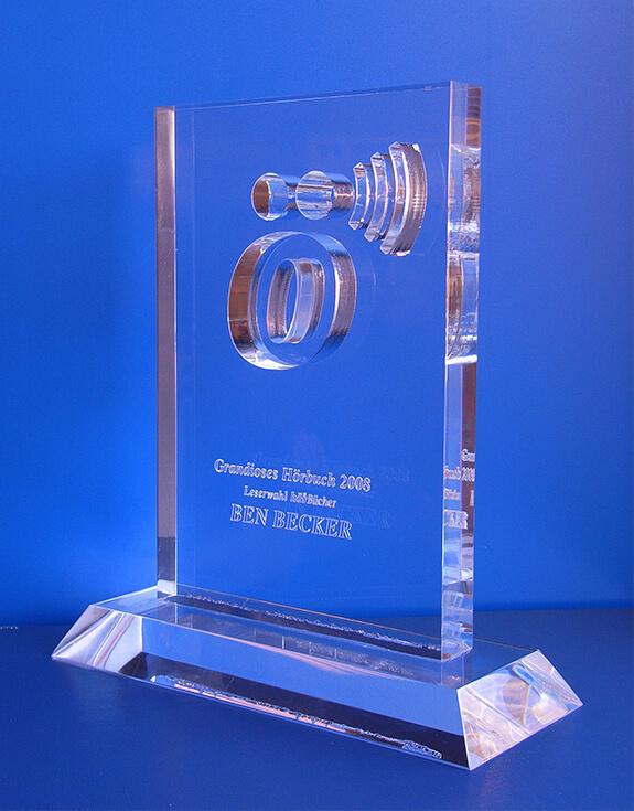 Acrylglas – Award Grandioses Hörbuch