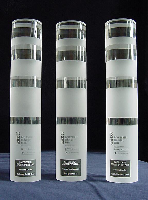 Bayerischer Gründerpreis – Acrylglas massiv